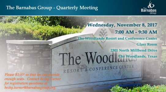 Quarterly Meeting – The Woodlands (4Q 2017)