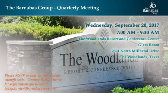 Quarterly Meeting – The Woodlands (3Q 2017)