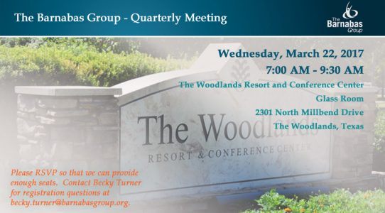 Quarterly Meeting – The Woodlands (1Q 2017)