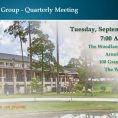 Quarterly Meeting The Woodlands – September 3Q 2019