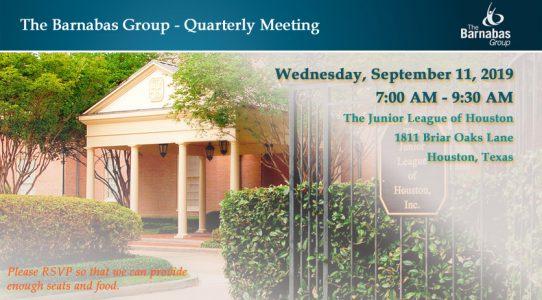 Quarterly Meeting Houston – September 3Q 2019
